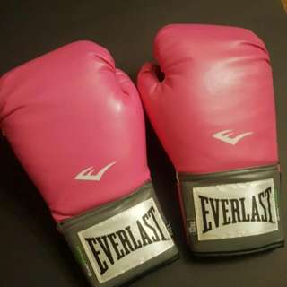 Pink Everlast Boxing Gloved