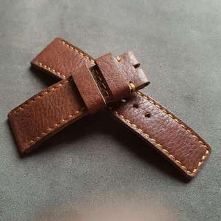 28mm Brown Leather Watch Strap for Sevenfriday