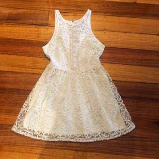 Lace Mini Dress Skater Style