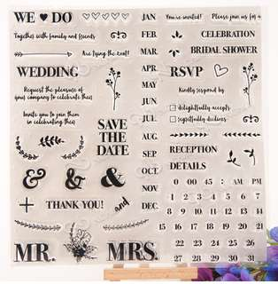 Save the date - wedding clear stamp