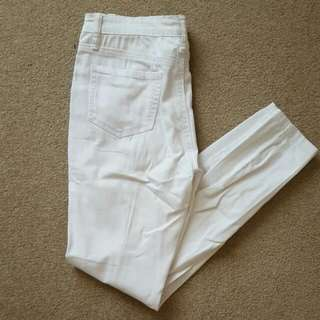 Wakee Denim White Jeans
