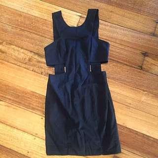 Bardot Cutout Mini Dress