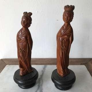 Old Boxwood Figurines