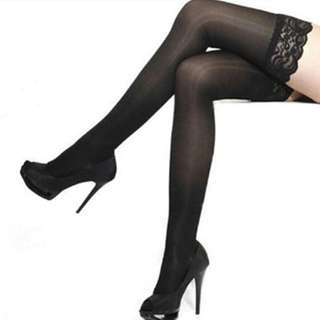 Stocking Lingerie Impor Sexy lace Hitam
