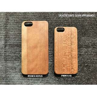 Custom Engraving On Wooden Phone Case [Plastic Side]