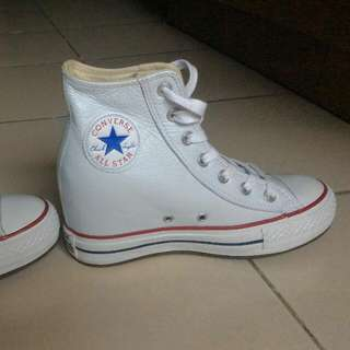 Converse Chuck Taylor All Star Lux Wedge White Mid Sneaker