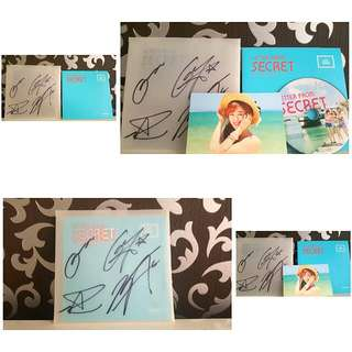 SIGNED SECRET 4TH Mini Album,  LETTER FROM SECRET