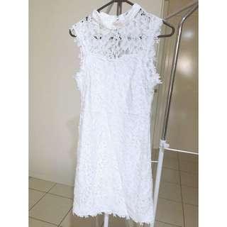 White Lace Dress Ladies Size M