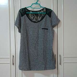 Forever 21 Gray Top