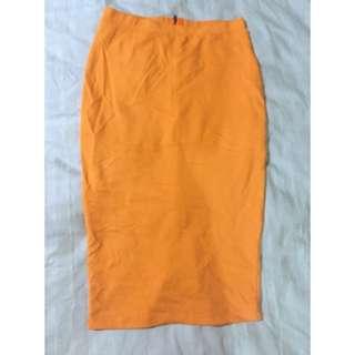 Bardot High Waisted Midi Skirt Ladies AU 10