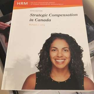 ADMS 3490 Strategic Compensation In Canada 5th Edition