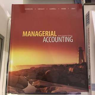 ADMS 2510 MANAGERIAL ACCOUNTING 9th Edition