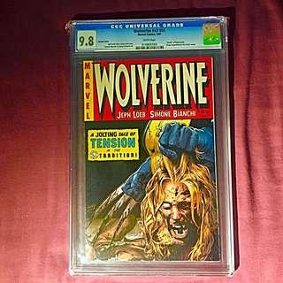 "Wolverine #55 (Crime Suspenstories 22 Homage Cover) CGC 9.8 ""Death Of Sabretooth"""