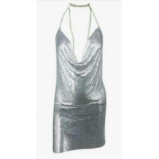Silver Mesh Posie Dress Love Story Boutique