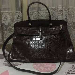 Fino 2-way Croc Design Leather Bag