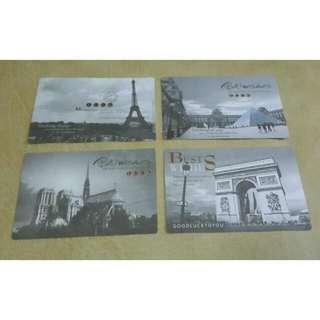 Paris London Black And White Postcard Set / Kartu Pos Set Hitam Putih