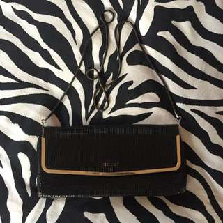 black and gold glomesh bag