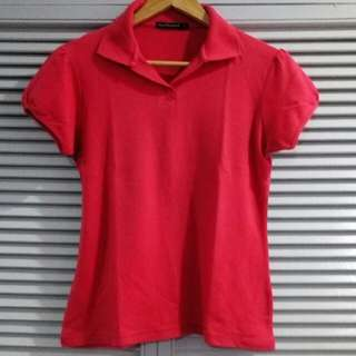 Appleseed Red/pink Polo Shirt