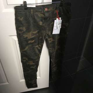 Cotton On Mid-Rise Jeggings - Camo