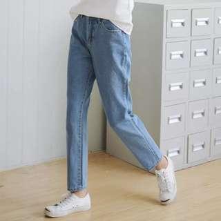 高腰顯瘦牛仔褲