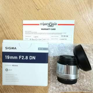 Sigma 19mm f2.8 MFT, Wide Angle (Olympus 4/3, Panasonic 4/3)