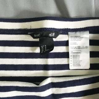 H&M / HnM Basic striped jersey skirt