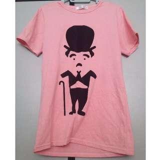 Charlie Chaplin Pink T-shirt