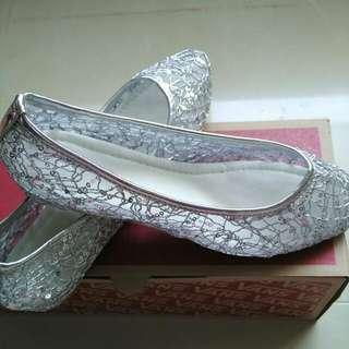 銀色閃亮淑女鞋