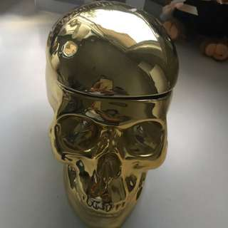 Gold Skull Decoration