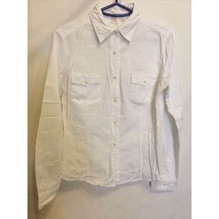 白色女裝牛仔布質恤衫