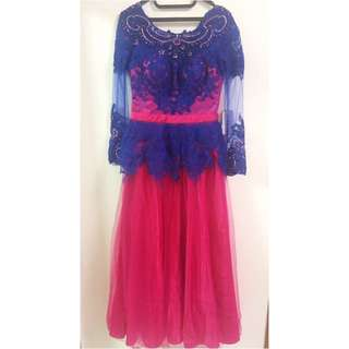 Long Dress Fuschia Electric