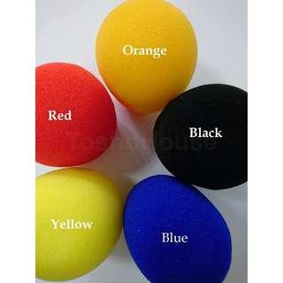 5 Pcs KTV Microphone Sponge Covers (Multi-Colours)