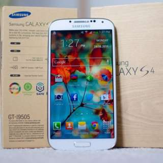 Samsung Galaxy S4 -I9505 LTE 4G White 16GB mint condition full set