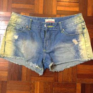 Kitschen Yellow Infused Jeans Shorts