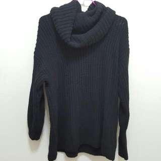 🚚 針織高領造型長板毛衣