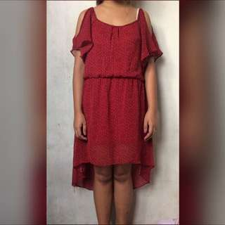 Long Back Red Dress