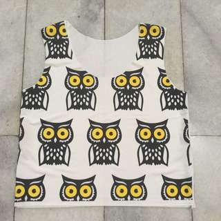 Crop Top Owl