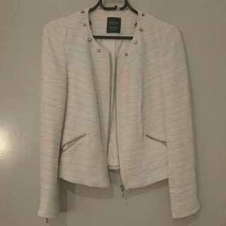 Zara Trafaluc Collection White Jacket Size S
