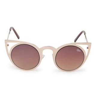 Quay Rose Gold Invader Cat Eye Sunglasses