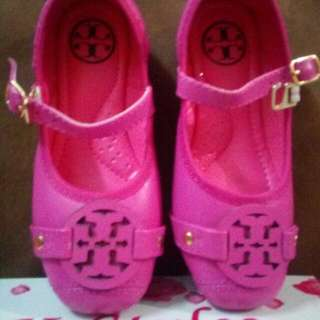 Ballerina Doll Shoes  tory Burch Inspired size 25  fuschia Pink   last Pair Stock  brandnew W/box