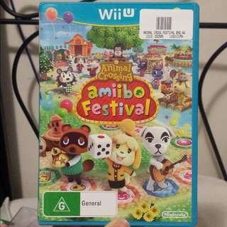 Animal Crossing Amiibo Festival Wii U game