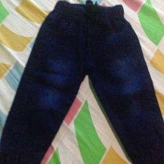 Toddler Denim Jogger Pants