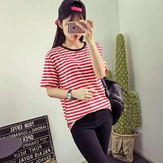 Red Stripes Shirt (Red and White) 4570RD