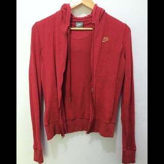 ON SALE! Authentic Nike Air Force Red Jacket With Hood
