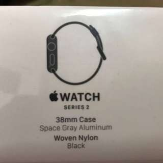Apple Watch Series 2 Space Gray Woven Nylon Black