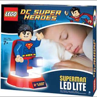 Lego DC super heroes Superman led torch and night light