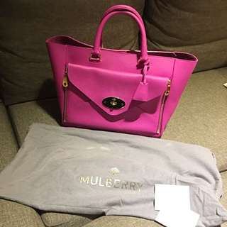Mulberry Willow Pink 桃紅色2用tote Bag