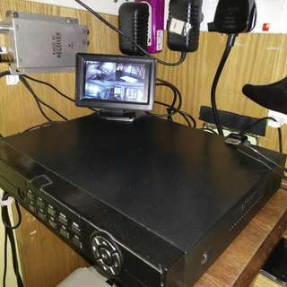 4 Channel Cctv System With Monitor