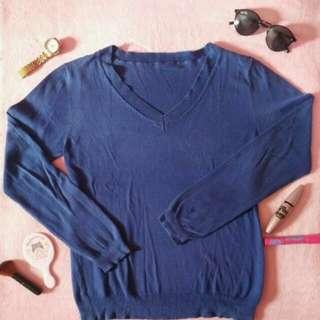 Sweater V Neck Navy