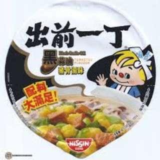 出前一丁 Black Tonkotsu Noodles